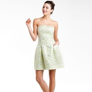Lilly Pulitzer Sherry Starfruit Yellow Jacquard